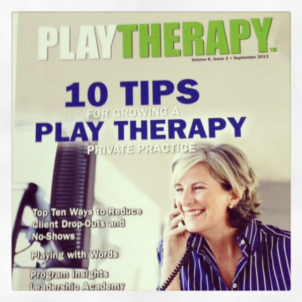 Play Therapy Magazine Cover Article September 2013 Edition